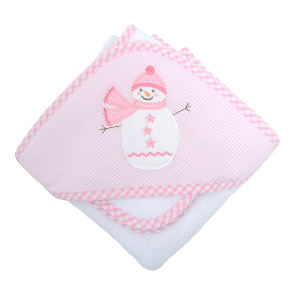 Snowman Boxed Hooded Towel Set