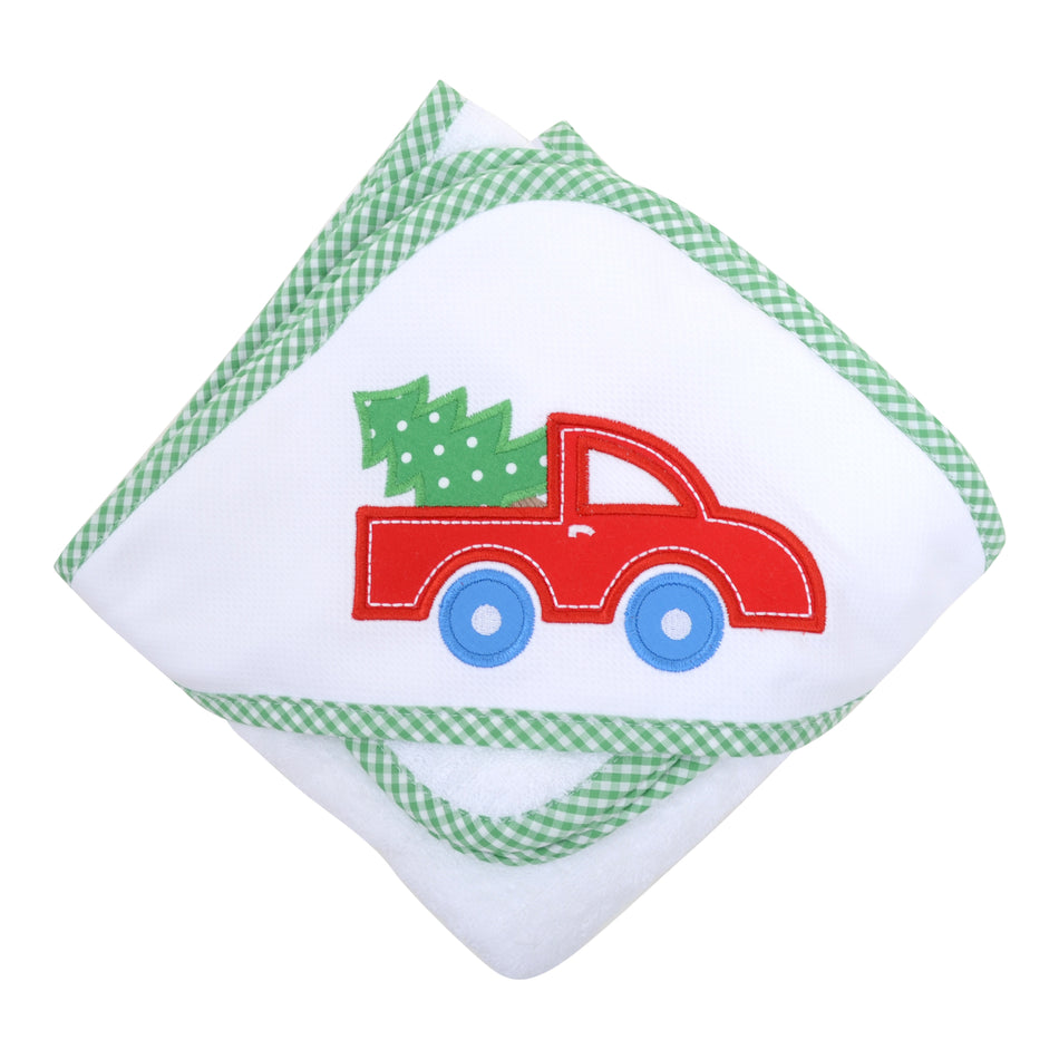 Christmas Truck Boxed Hooded Towel Set