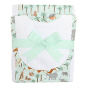 Safari Drooler Bib & Burp Set