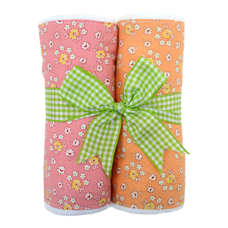 Daisy Set of Two Fabric Burps