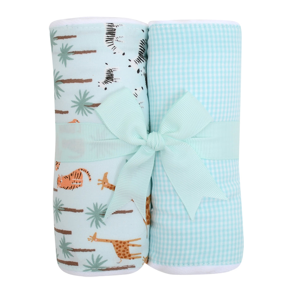 Safari Set of Two Fabric Burps