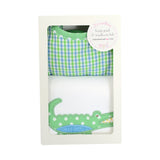 Alligator Basic Bib & Burp Box Set