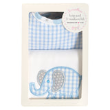 Elephant Basic Bib & Burp Box Set