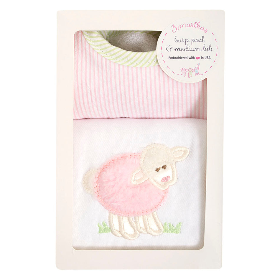 Lamb Basic Bib & Burp Box Set