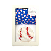 Baseball Basic Bib & Burp Box Set