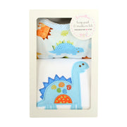 Dinosaur Basic Bib & Burp Box Set