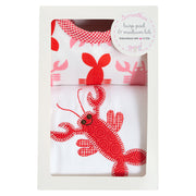 Lobster Basic Bib & Burp Box Set
