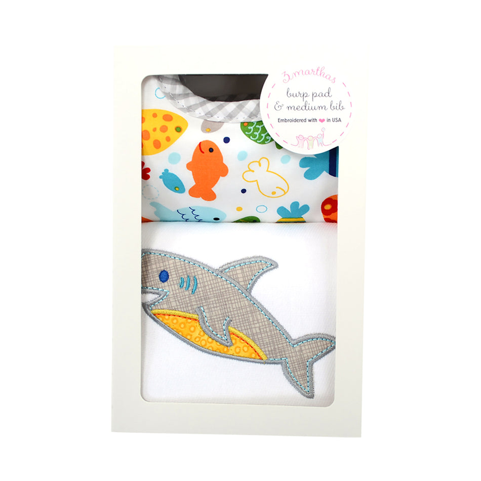 Shark Basic Bib & Burp Box Set
