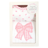 Bow Basic Bib & Burp Box Set