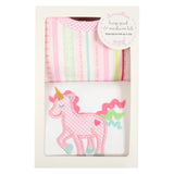 Unicorn Basic Bib & Burp Box Set