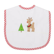 Reindeer Toddler Bib