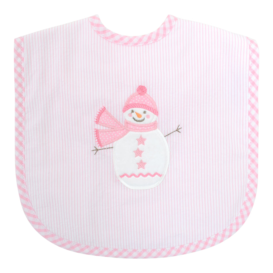 Snowman Toddler Bib
