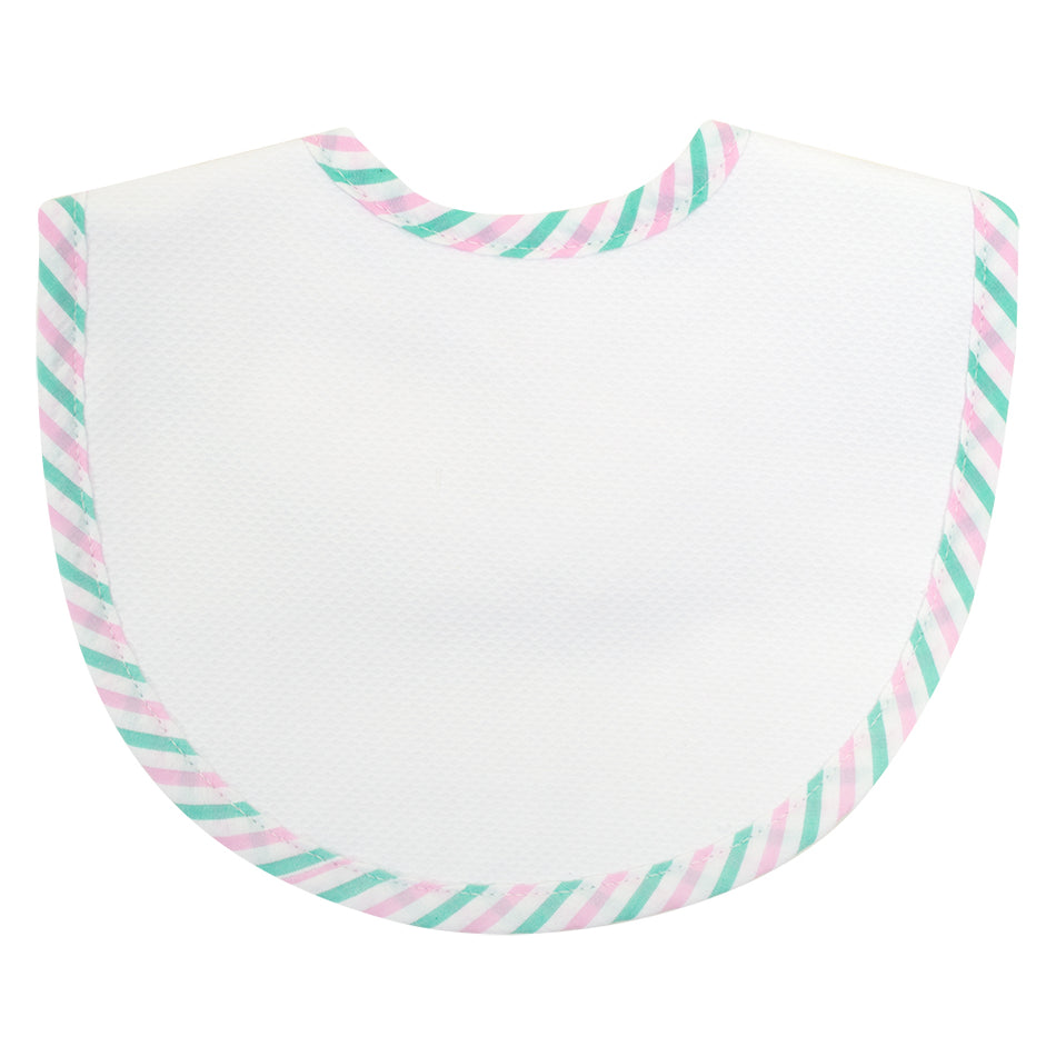 Seersucker Stripe Basic Bib