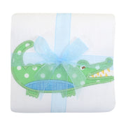 Alligator Appliqued Burp