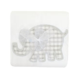 Elephant Appliqued Burp