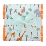 Safari Fancy Fabric Burp