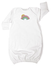 Rainbow Newborn Gown