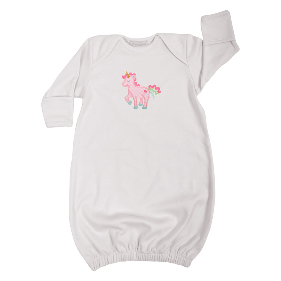 Unicorn Newborn Gown