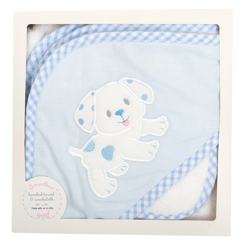 Puppy Boxed Hooded Towel Set