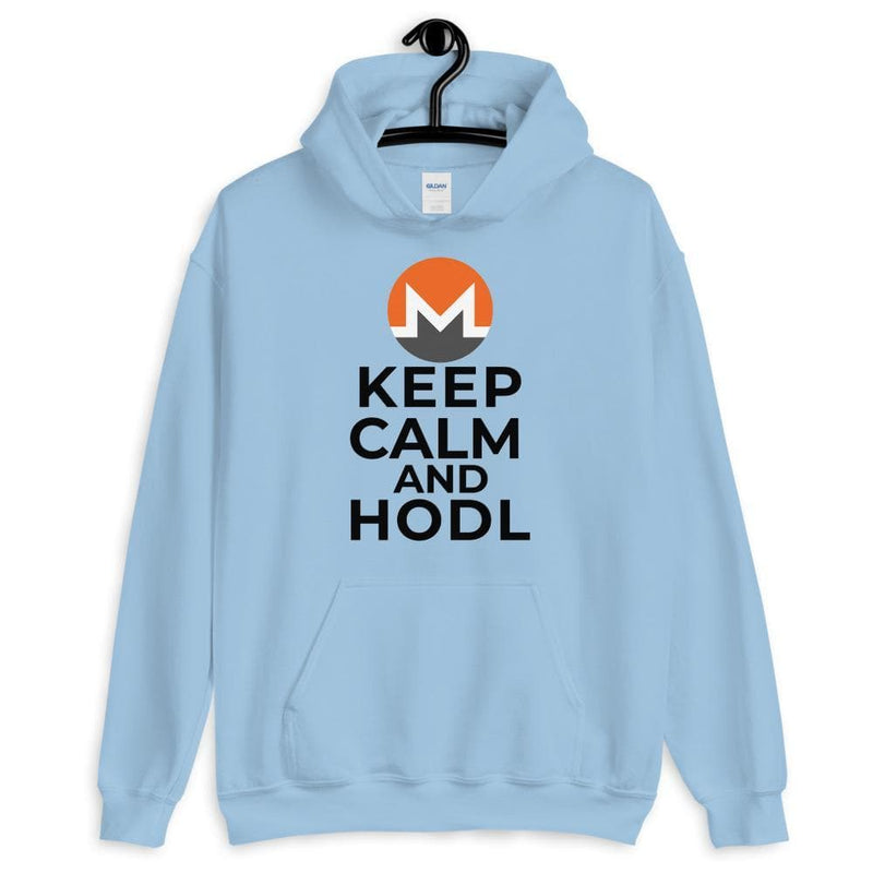 Keep Calm and HODL Monero Hoodie - Crypto Cove