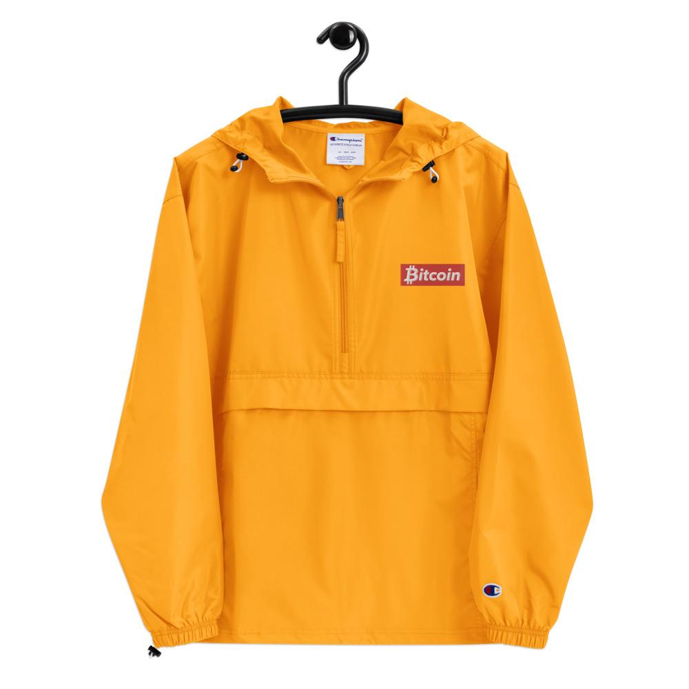 Bitcoin Embroidered Champion Packable Jacket