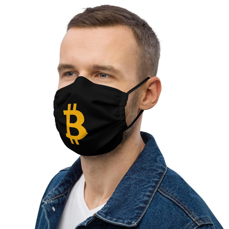 Bitcoin B Black crypto Face Mask - Crypto Cove