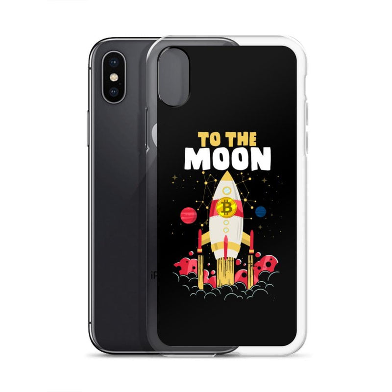Bitcoin to the Moon Crypto iPhone Case - Crypto Cove