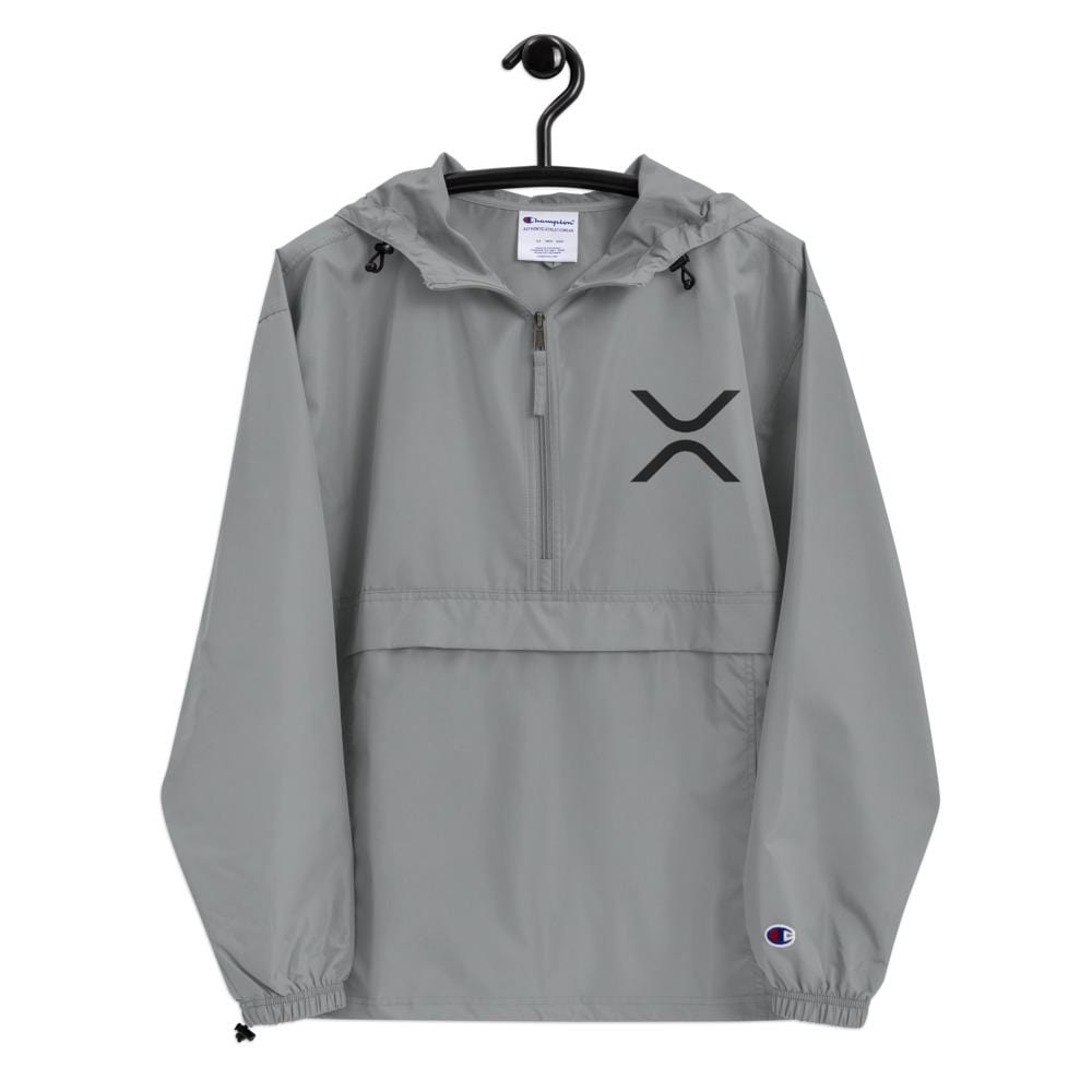 XRP Ripple Embroidered Champion Packable Jacket