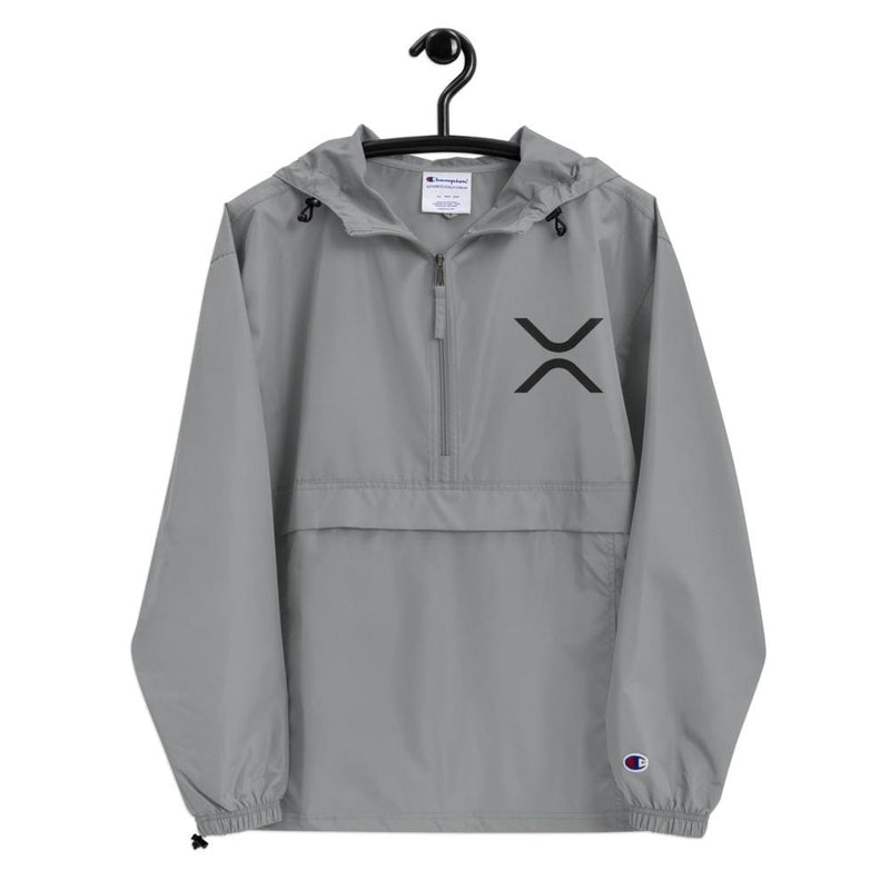 XRP Ripple Embroidered Champion Packable Jacket - Crypto Cove