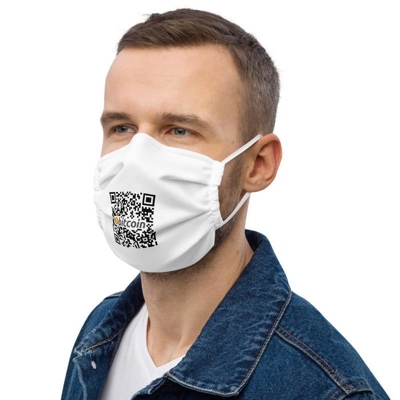 Bitcoin Custom QR code Face Face mask - Crypto Cove