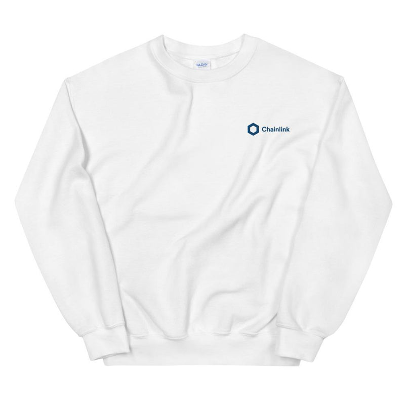 Chainlink Embroidered Sweatshirt - Crypto Cove