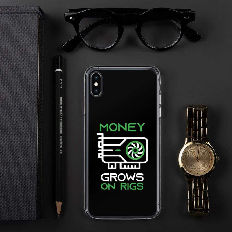 Money Grows on Rigs Crypto iPhone Case - Crypto Cove