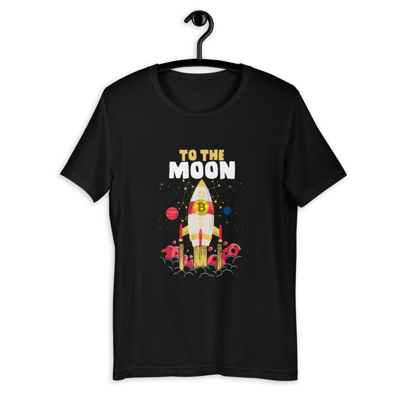 Bitcoin to the Moon Crypto Unisex T-Shirt - Crypto Cove
