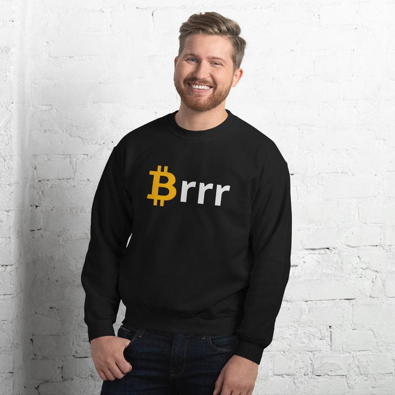 Money Printer Go Brrr, Bitcoin Meme sweatshirt - Crypto Cove