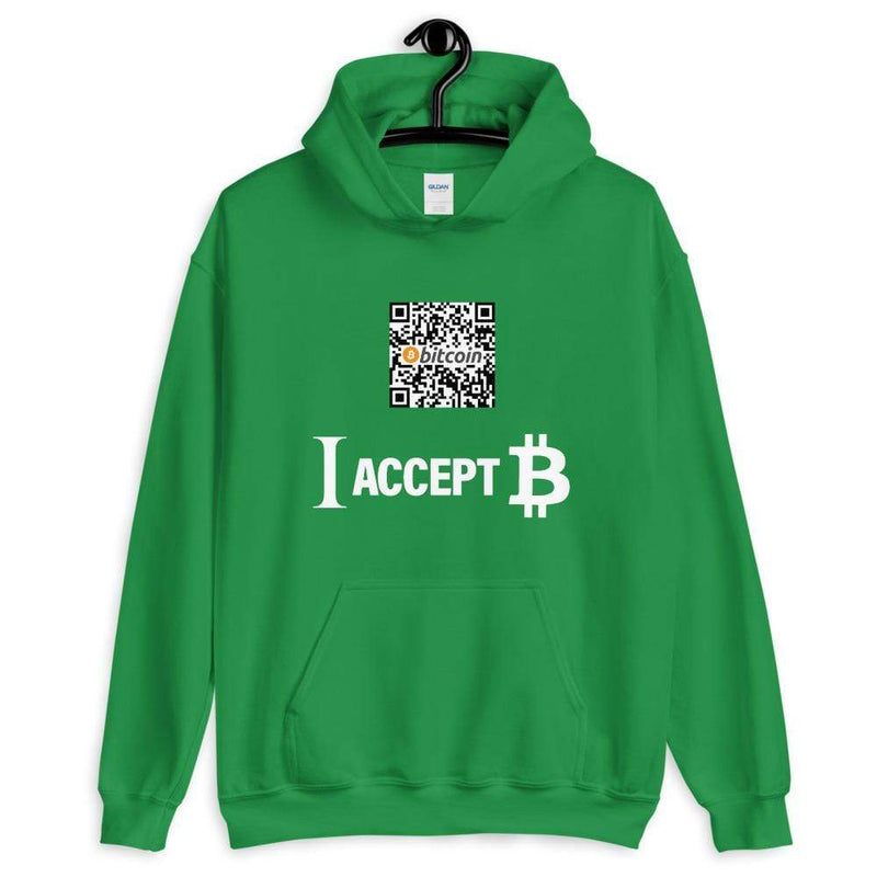 I accept Bitcoin Hoodie with Custom QR