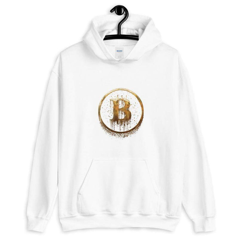 Melting Bitcoin BTC GOLD hoodie - Crypto Cove