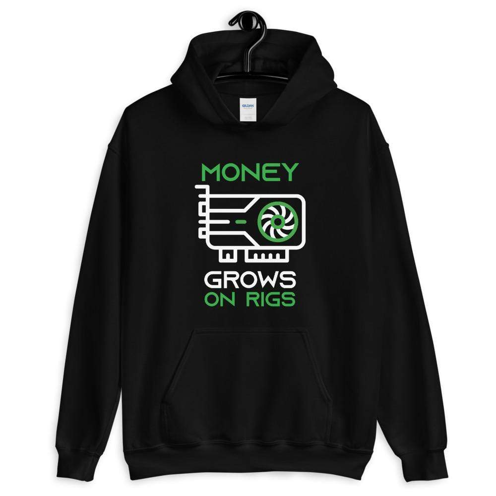 Money Grows on Rigs Crypto Hoodie