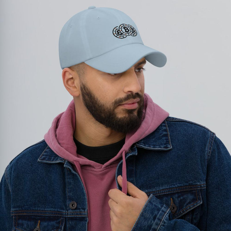 Bitcoin Stacked Chips Crypto Dad hat - Crypto Cove