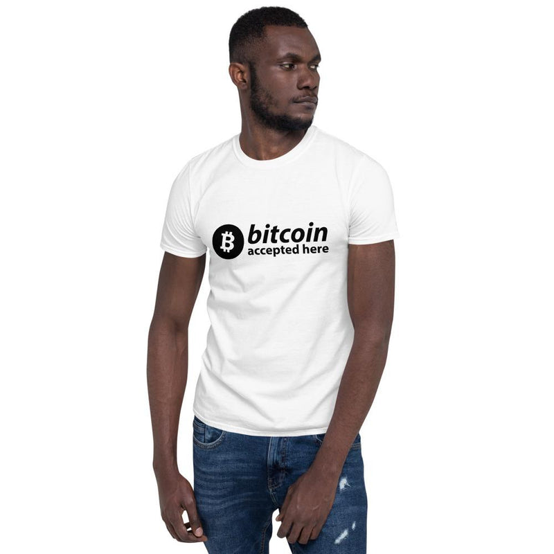 Bitcoin Accepted Here T-Shirt - Crypto Cove