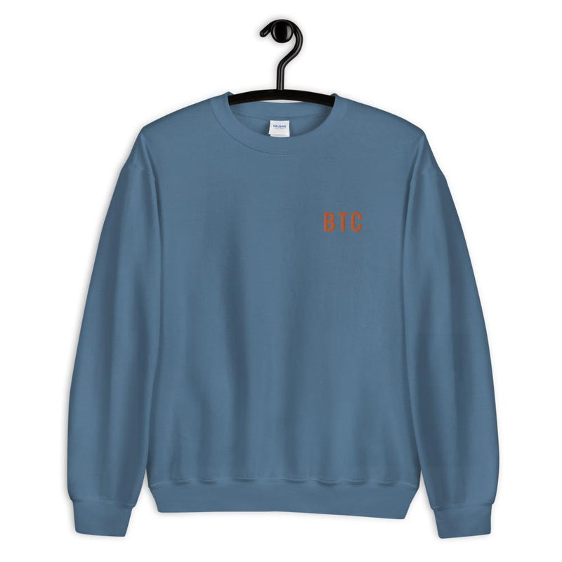 BTC Embroidered Sweatshirt - Crypto Cove