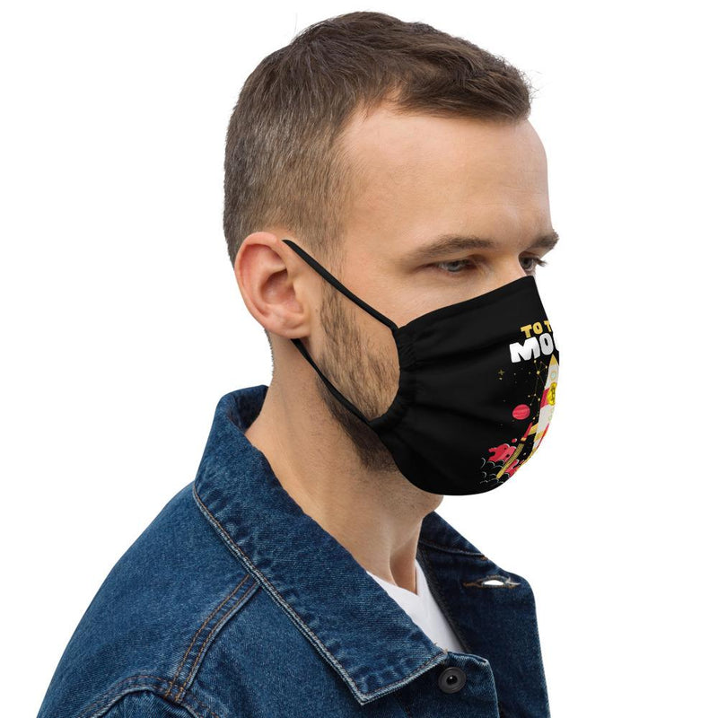 Bitcoin to the Moon Face mask - Crypto Cove