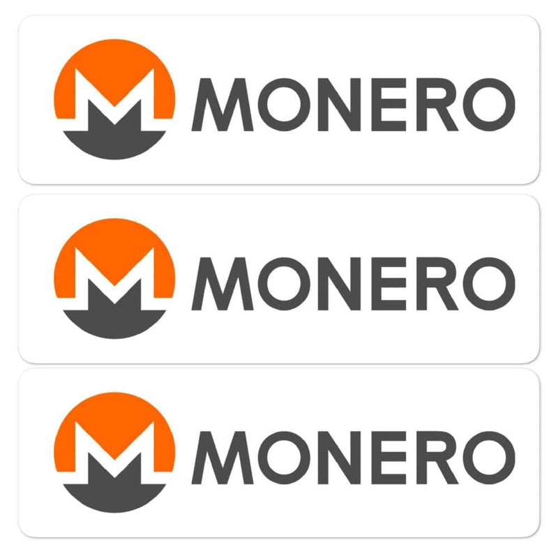 Monero 3 Pack Crypto Stickers