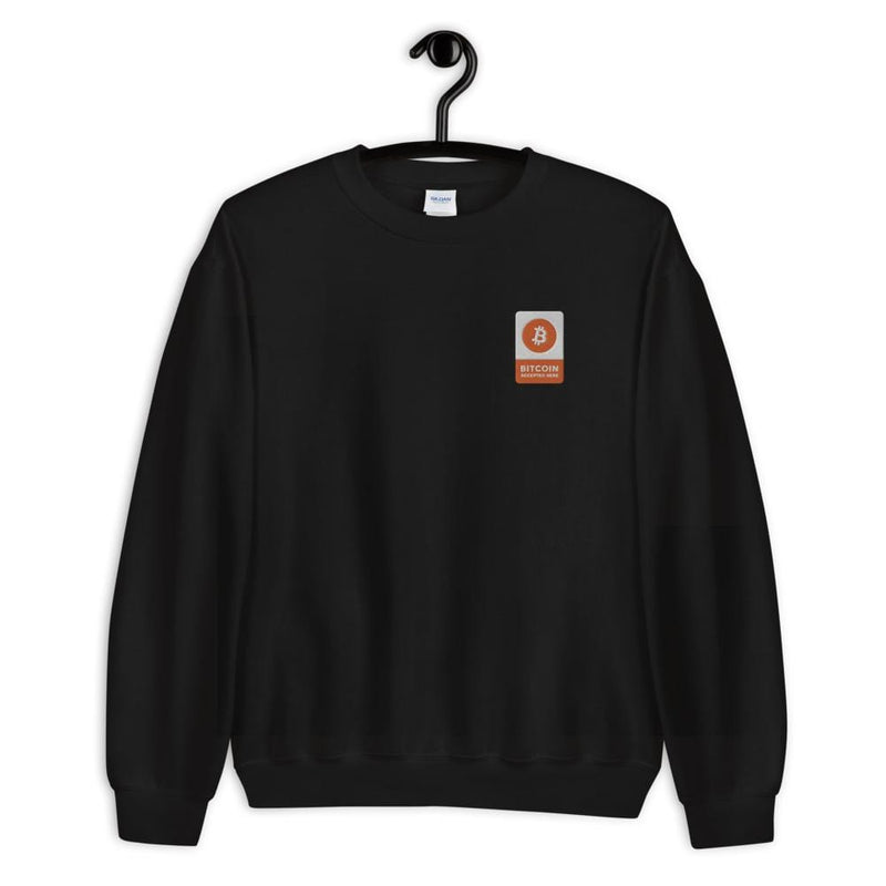 BITCOIN Accepted Here BTC Sweatshirt - Crypto Cove