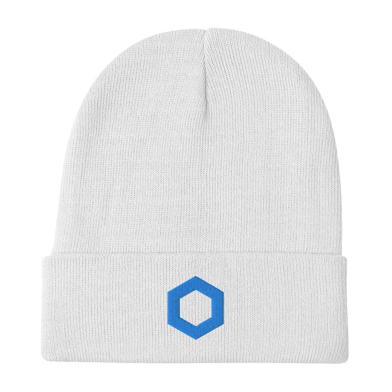 Chain Link Embroidered Beanie - Crypto Cove