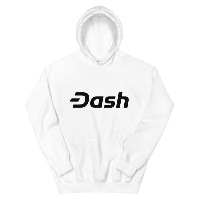 Dash Black on White Hoodie - Crypto Cove