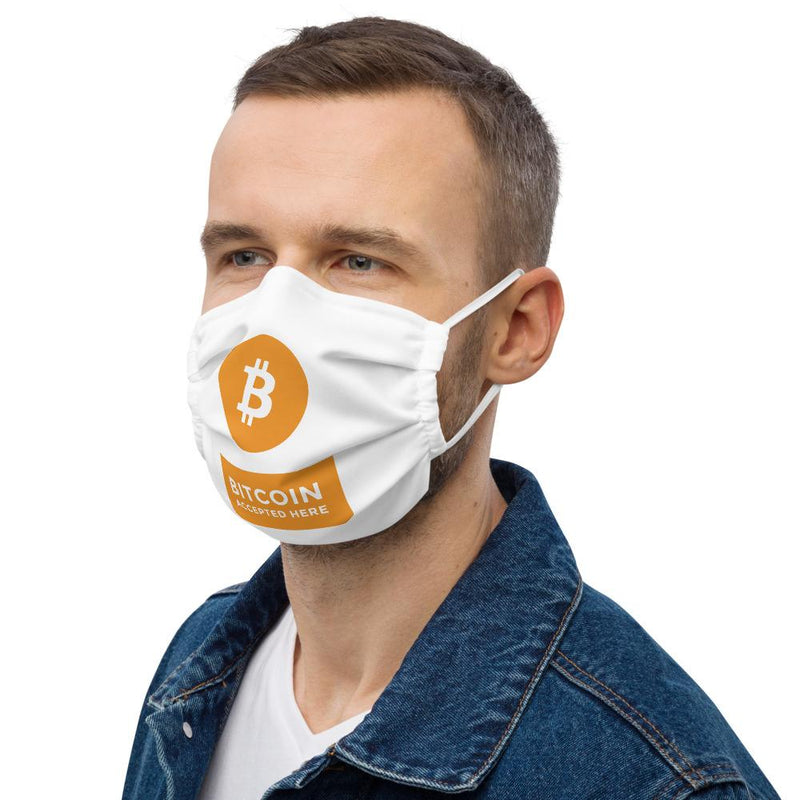 Bitcoin Accepted Here Crypto Face Mask - Crypto Cove