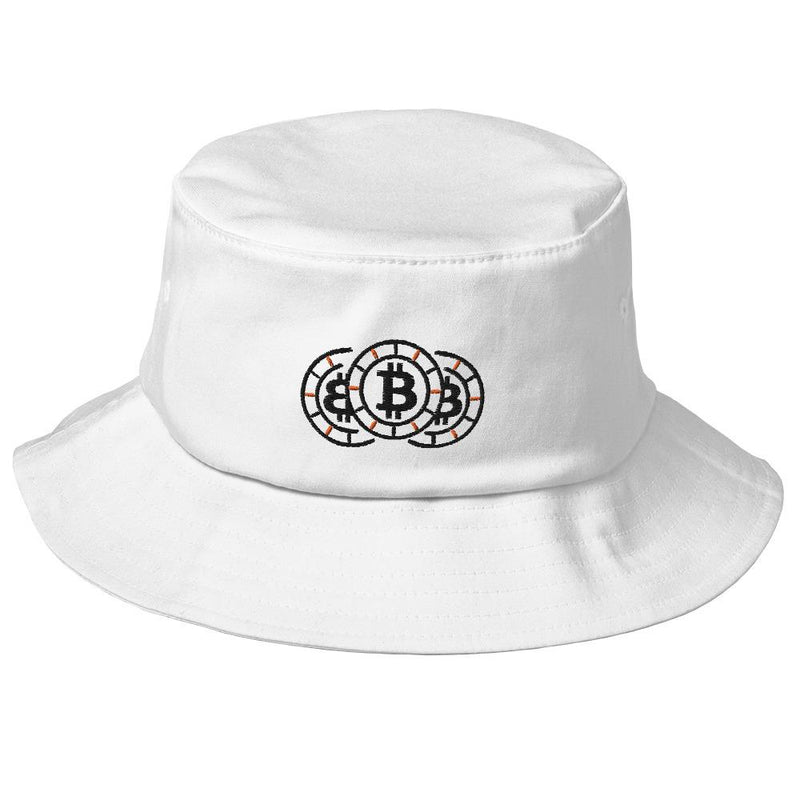 Bitcoin Chip Stack Embroidered Bucket Hat - Crypto Cove
