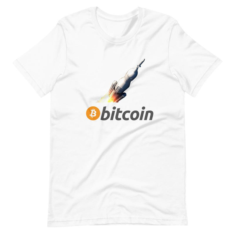 Bitcoin Rocket Moon T-Shirt - Crypto Cove