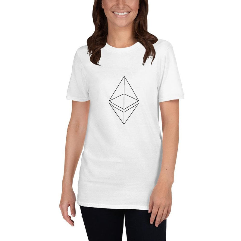 Ethereum Wire White  T-Shirt - Crypto Cove