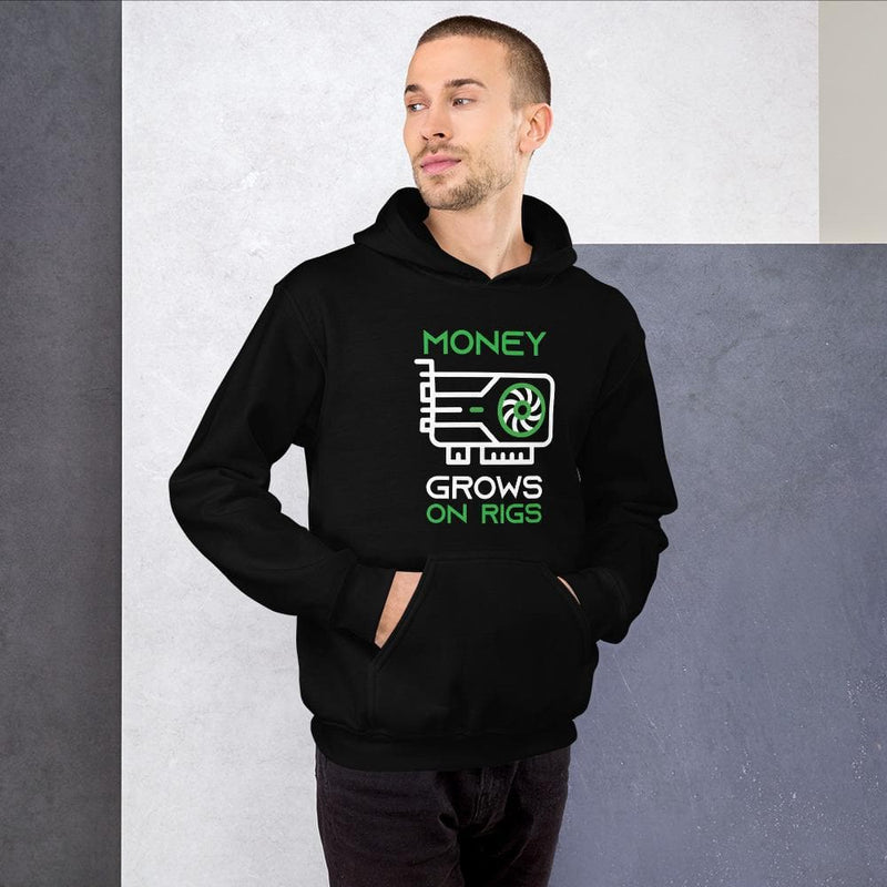 Money Grows on Rigs Crypto Hoodie - Crypto Cove